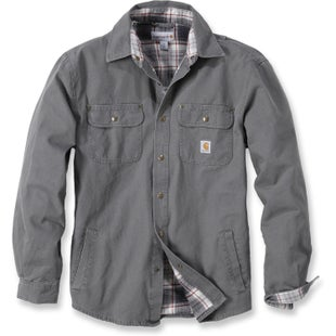 Carhartt Weathered Canvas Long Sleeve Shirt - Gravel
