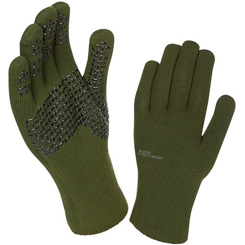 Sealskinz Ultra Grip Gloves - Dark Olive Anthracite