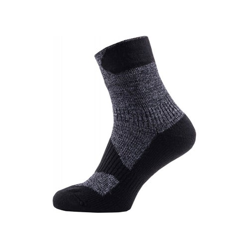 Sealskinz Walking Ankle Outdoor Socks - Dark Grey Black