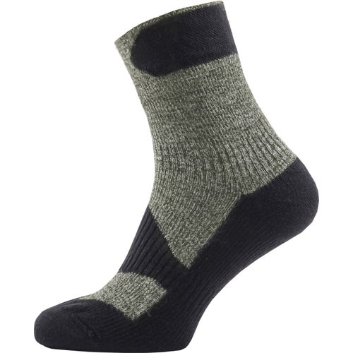 Sealskinz Walking Ankle Outdoor Socks - Olive Marl Charcoal