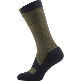 Sealskinz Walking Thin Mid Outdoor Socks - Olive Marl Charcoal