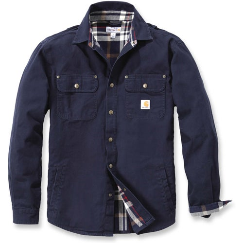 Carhartt Weathered Canvas Long Sleeve Shirt - Navy
