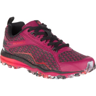Merrell All Out Crush Tough Mudder Womens Trail Shoes - Beet Red