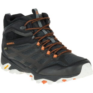 Merrell Moab FST Mid GTX Walking Shoes - Black Orange
