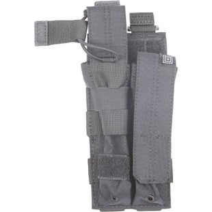 5.11 Tactical Double MP5 Mag Bungee-Cover Mag Pouch - Storm