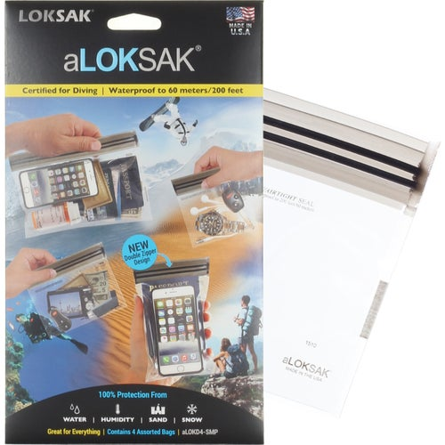 Loksak aLoksak 4 pack Assorted Small Drybag - Clear