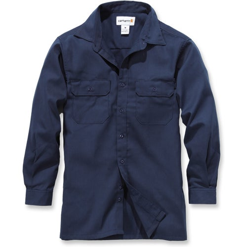 Carhartt Twill Work Long Sleeve Shirt - Navy