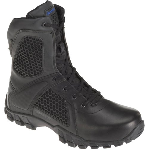 Bates Strike 8 Inch Side Zip Boots - Black