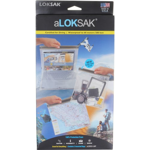 Loksak aLoksak 3 pack Assorted Large Drybag - Clear