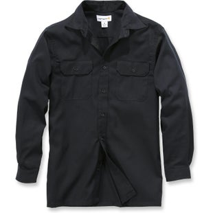 Carhartt Twill Work Long Sleeve Shirt - Black