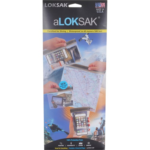 Loksak aLoksak 4 pack Assorted Medium Drybag - Clear