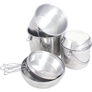 Mil-Com Billy Can Nesting Cookset - Silver