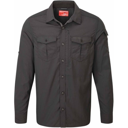 Craghoppers NosiLife Adventure Long Sleeve Shirt - Black Pepper