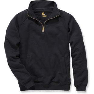 Carhartt Midweight Quarter Zip Mock Neck Sweater - Black