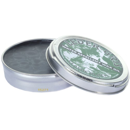 Altberg Leder Gris Original Wax Oil 80g Proofing - Black