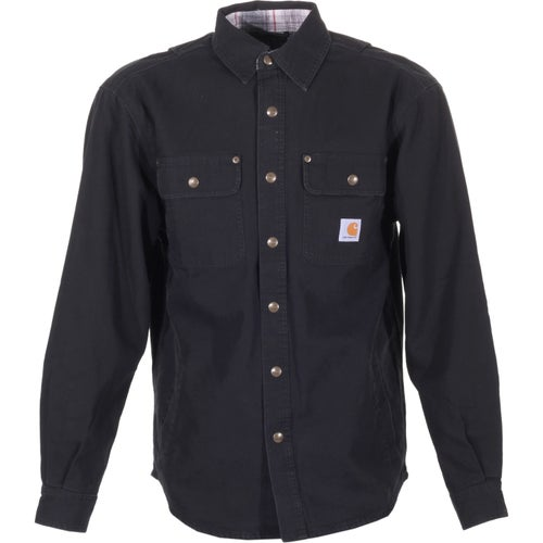 Carhartt Weathered Canvas Long Sleeve Shirt - Black