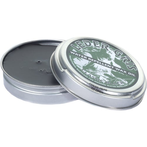 Altberg Leder Gris Original Wax Oil 40g Proofing - Black