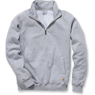 Carhartt Midweight Quarter Zip Mock Neck Sweater - Heather Grey