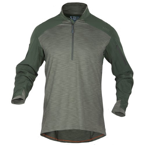 5.11 Tactical Rapid Response Quarter Zip Long Sleeve Shirt - TDU Green
