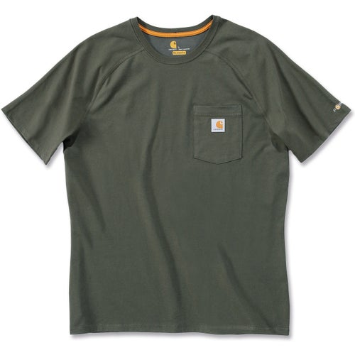Carhartt Force Cotton Short Sleeve T-Shirt - Moss