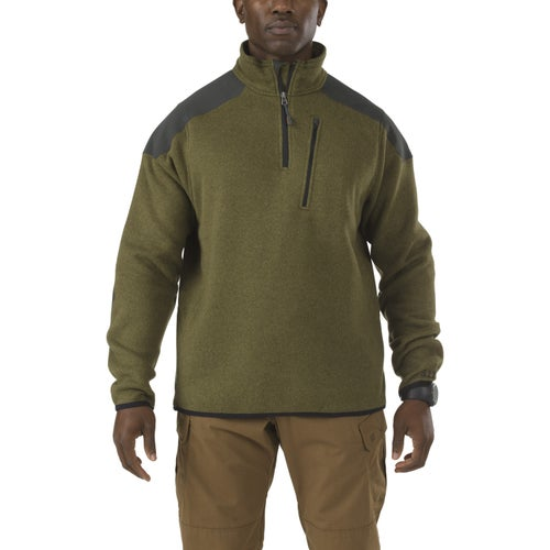 5.11 Tactical Quarter Zip Sweater Fleece - Field Green