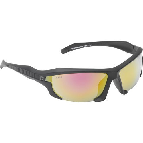 5.11 Tactical Burner Half Frame Sunglasses - Black Frame ~ Silver Mirror Lense