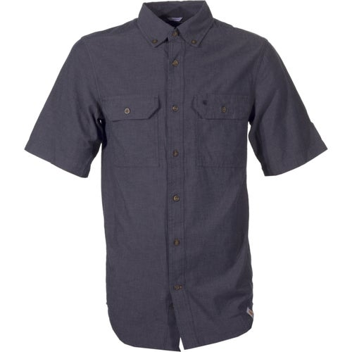Carhartt Fort Solid Short Sleeved Shirt - Black Chambray