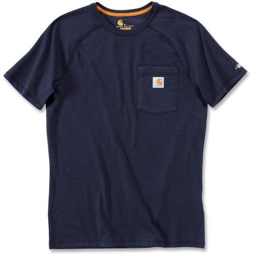 Carhartt Force Cotton Short Sleeve T-Shirt - Navy