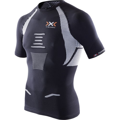 X-Bionic The Trick SS Running Sports Top - Black White