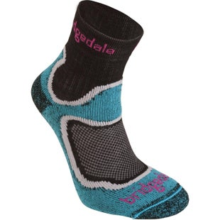 Bridgedale Cool Fusion Run Speed Trail Womens Sports Socks - Turquoise