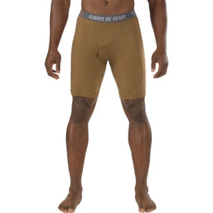 5.11 Tactical Performance 9 Inch Boxer Shorts - Battle Brown