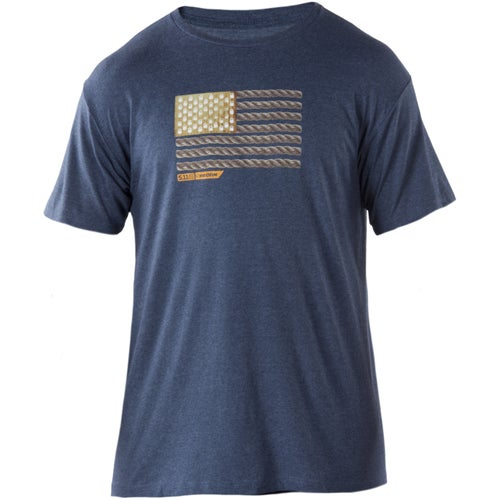 5.11 Tactical RECON Short Sleeve T-Shirt - Rope Ready Navy Heather