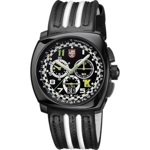 Luminox Tony Kanaan Steel Chronograph A1142 Watch - Black White