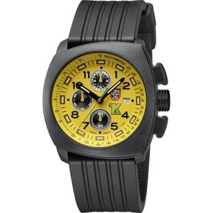 Luminox Tony Kanaan PC Carbon Chronograph A1105 Watch - Yellow Black