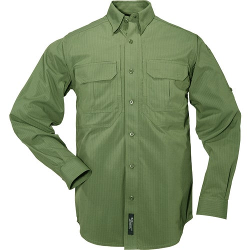5.11 Tactical TDU Ripstop Sun Long Sleeve Shirt - OD Green