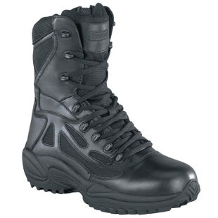 Reebok Military Rapid Response 8in Side Zip Boots - Black