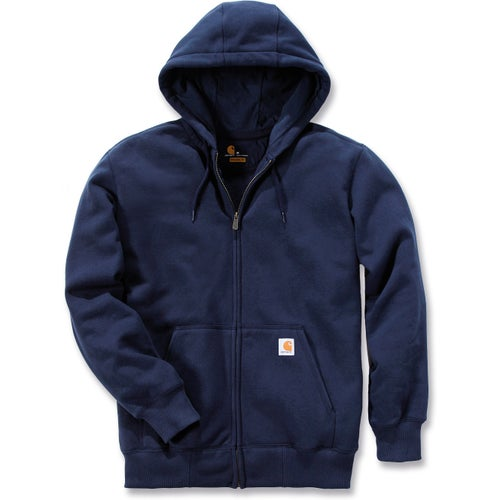 Carhartt Rain Defender Paxton Heavyweight Hooded Jacket - New Navy