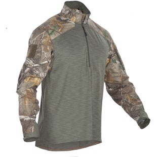 5.11 Tactical Rapid Response Quarter Zip Long Sleeve Shirt - Realtree