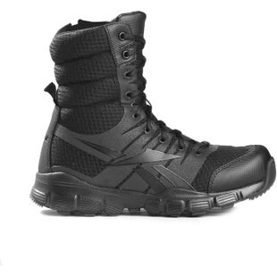 Reebok Military Dauntless 8in Seamless Side Zip Boots - Black