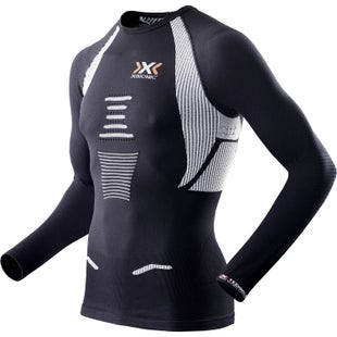 X-Bionic Running Man The Trick LS Base Layer - Black White