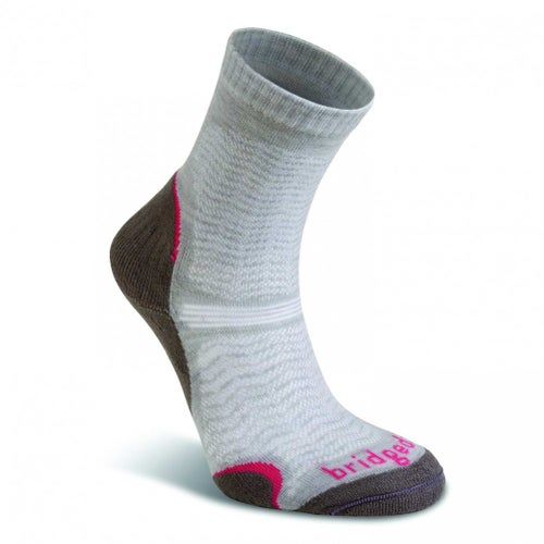 Bridgedale Wool Fusion Trail Ultra Light Womens Outdoor Socks - Mushroom