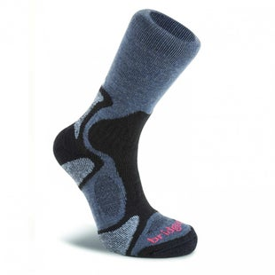 Bridgedale Cool Fusion TrailBlaze Outdoor Socks - Gunmetal Black 2017