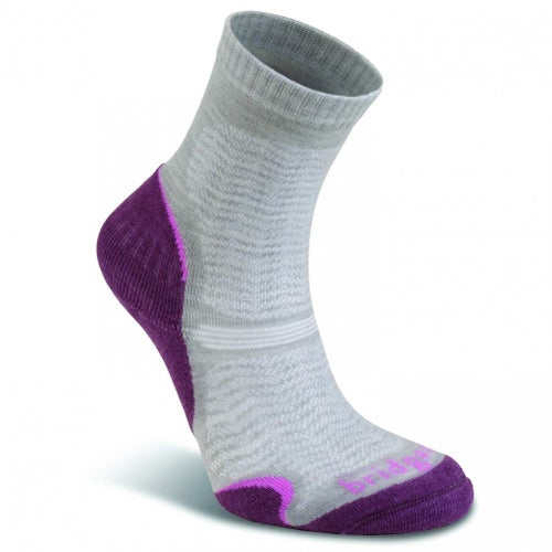 Bridgedale Wool Fusion Trail Ultra Light Womens Outdoor Socks - Aubergine
