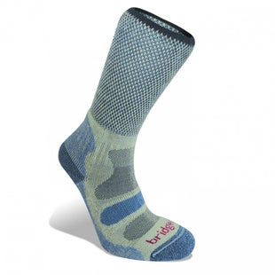Bridgedale Cool Fusion Light Hiker Womens Outdoor Socks - Smokey Blue