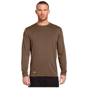 Under Armour Tech Long Sleeve T Shirt - Army Brown