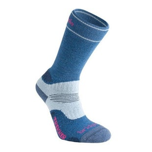 Bridgedale Wool Fusion Trekker Womens Outdoor Socks - Blue Sky