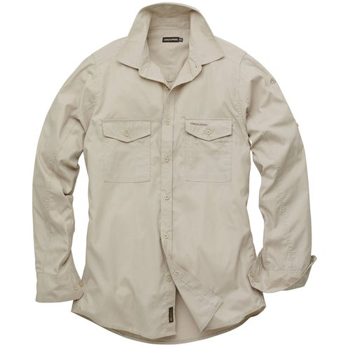 Craghoppers Kiwi Long Sleeve Shirt - Oatmeal