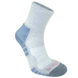 Bridgedale Woolfusion Trail Light Womens Outdoor Socks - Grey Smokey Blue