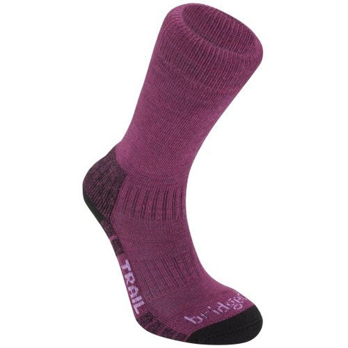 Bridgedale Woolfusion Trail Womens Outdoor Socks - Berry