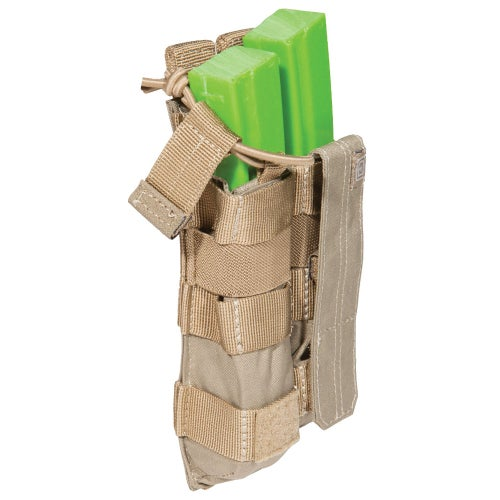 5.11 Tactical Double MP5 Mag Bungee-Cover Mag Pouch - Sandstone